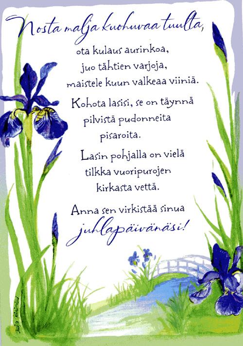 Hyvää nimipäivää runo