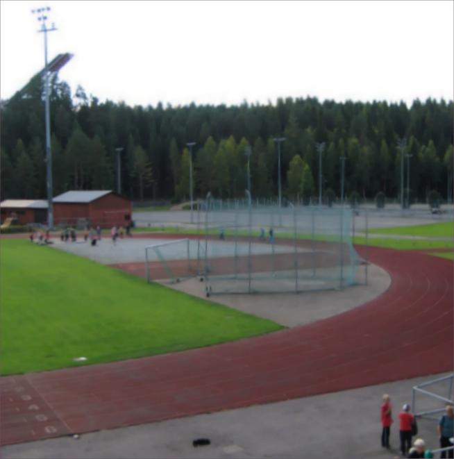 Hutsin urheilukentällä on hyvät urheilupaikat