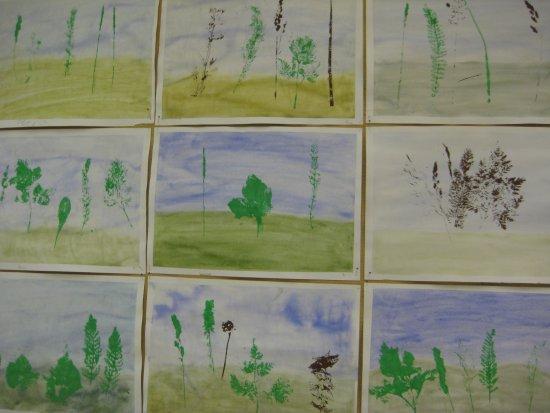 Kasveilla painettuja (5-6 luokka)