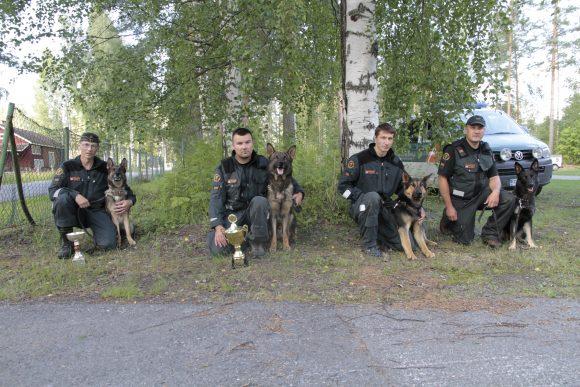 Kisojen palkintonelikko, vasemmalta oikealle Juutinen, Lukkarinen, Ryökkynen ja Ihalainen