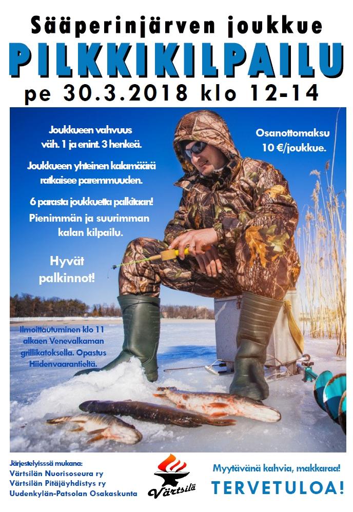Sääperinjärven joukkue pilkkikilpailu @ Sääperinjärvi, Värtsilä | Suomi