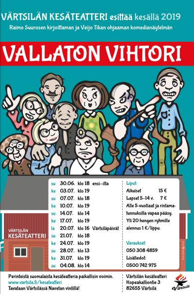 Värtsilän kesäteatterissa kesällä 2019 - Vallaton Vihtori