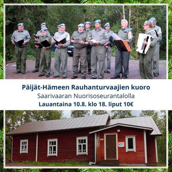 Päijät-Hämeen Rauhanturvaajien kuoro Saarivaarassa @ Saarivaaran Nuorisoseuran talo