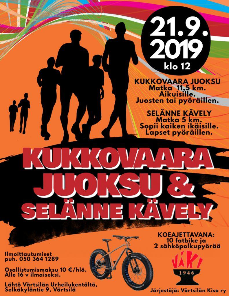Kukkovaara juoksu & Selänne kävely @ Värtsilä, Patsolan urheilukenttä