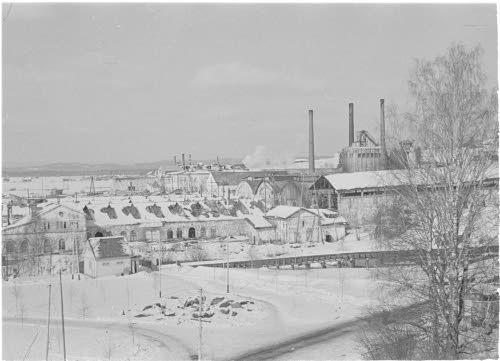 Värtsilän tehtaat. 25.3.1940. Kuva: SA-kuva.