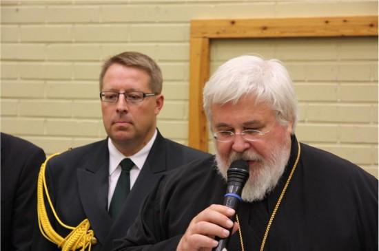 Eversti Lampinen ja arkkipiispa Leo