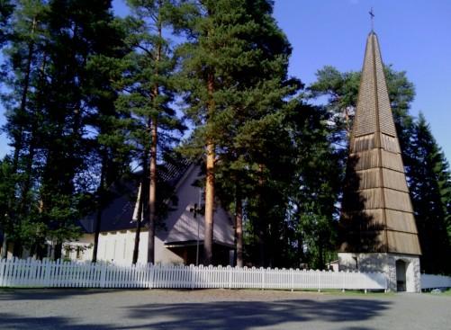 Värtsilän kirkko kesällä 2013. Kuva: Eira V