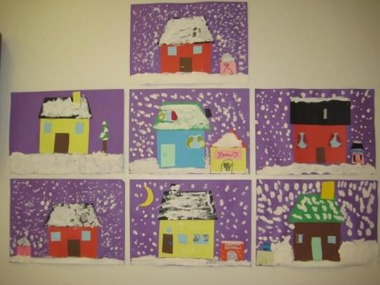talvisia taloja 1-2 lk
