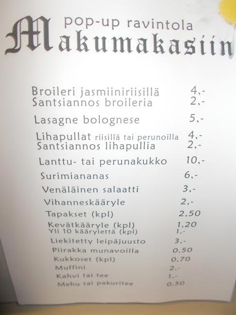 makumakasiinin menu