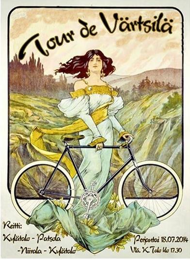 Pyöräilytapahtuman mainosjuliste.  Rodi Welsh.