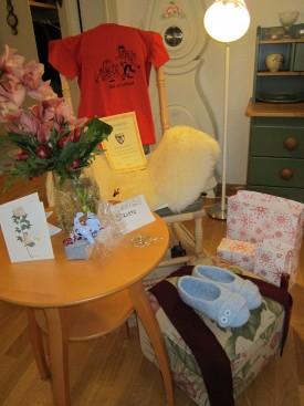 Synttärisankarin lahjanurkkaus  joulukuussa 2012
