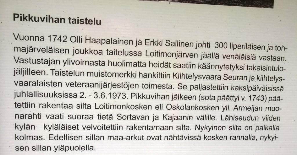 Pikkuvihan taistelu Jänisjoki.