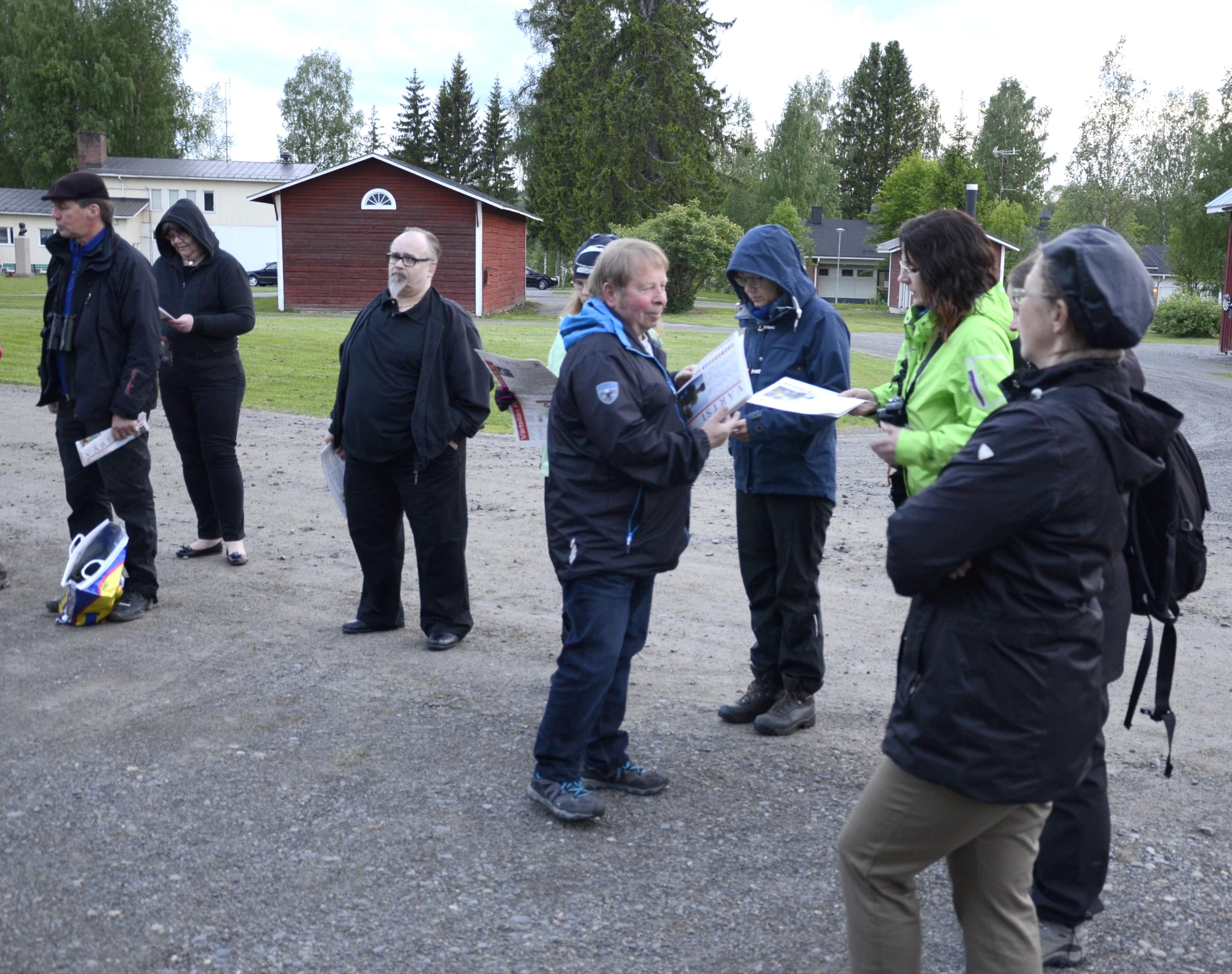 Jokainen vieras sai käteensä nettilehti Värtsin paperiversion.