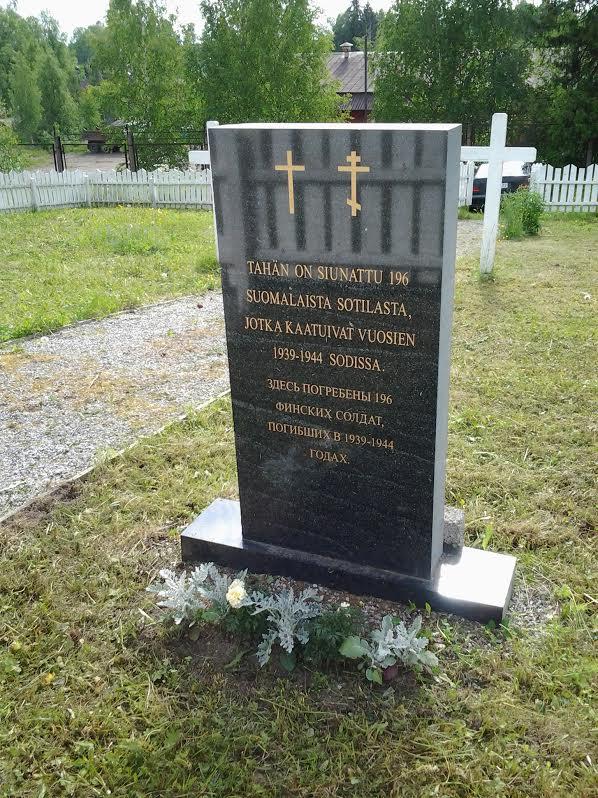 tähän on siunattu 196 suomalaista sotilasta