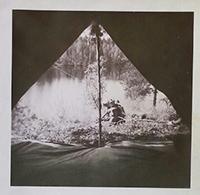 Tällainen näköala pitäisi teltalta näkyä. Kuva on Kukkolammelta Luppotuvan vastarannalta. Kuva Alpo R