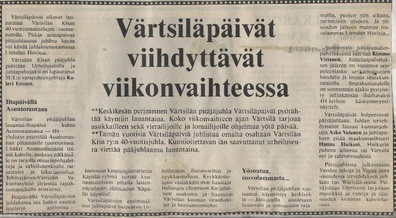 värtsiläpäivät -86