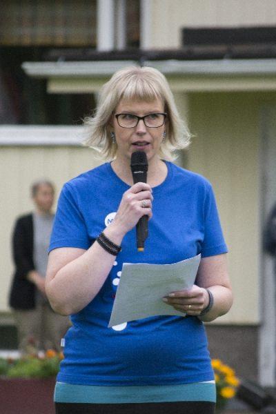 Marita Määttänen MLL:n Värtsilän osaston puheenjohtaja